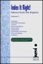 Index It Right! Advice from the Experts, Volume 1